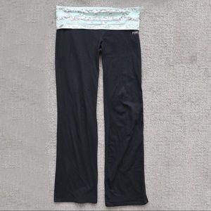 PINK Victoria's Secret Yoga Pants Flare Teal Band